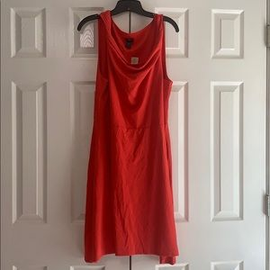 NWT Ann Taylor orange A-line dress